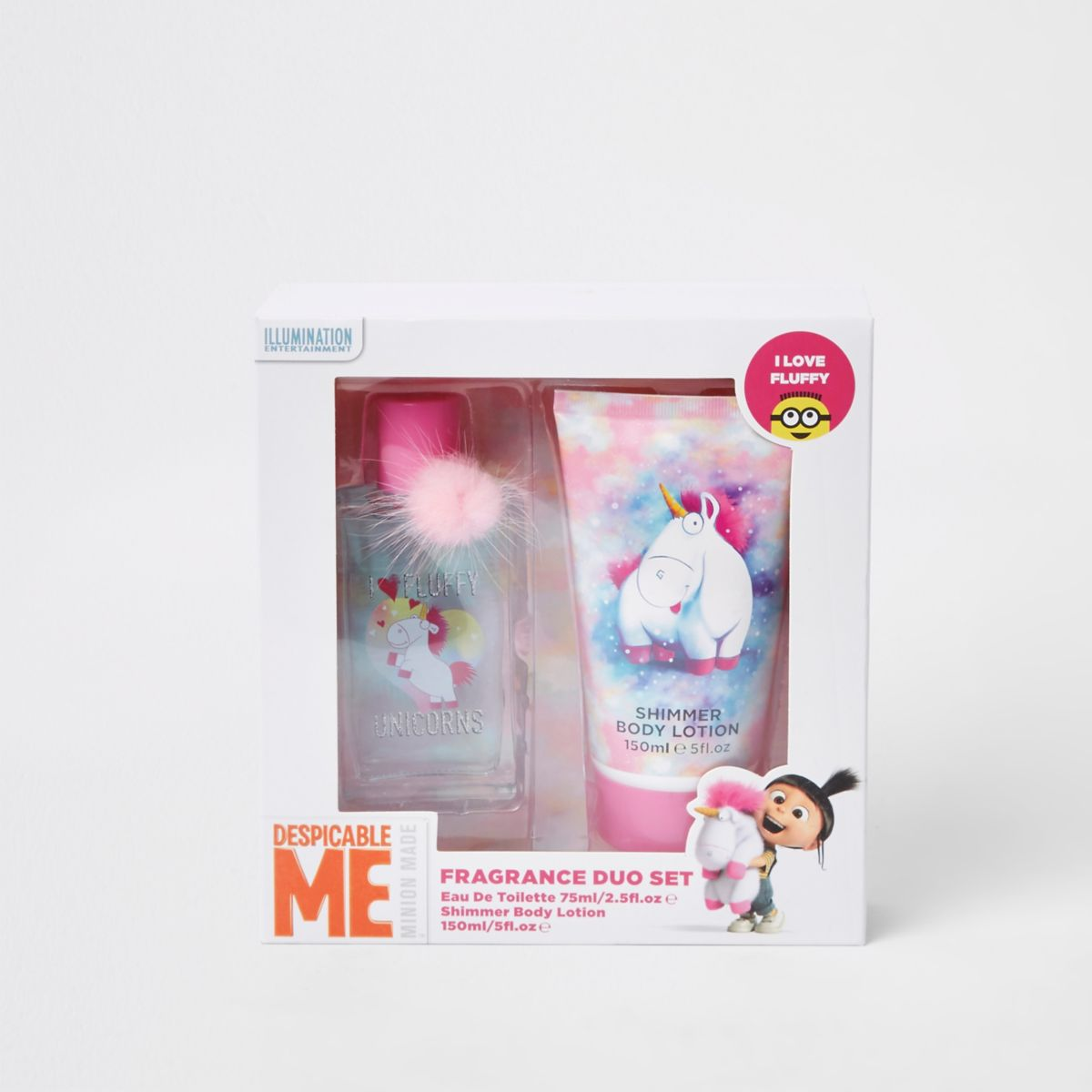 Girls white Despicable Me fragrance duo set