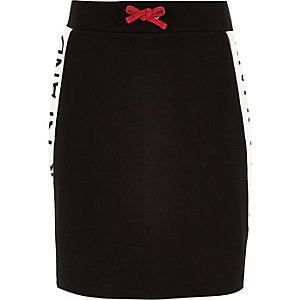 Zwarte rok met bies met RI-logo voor meisjes