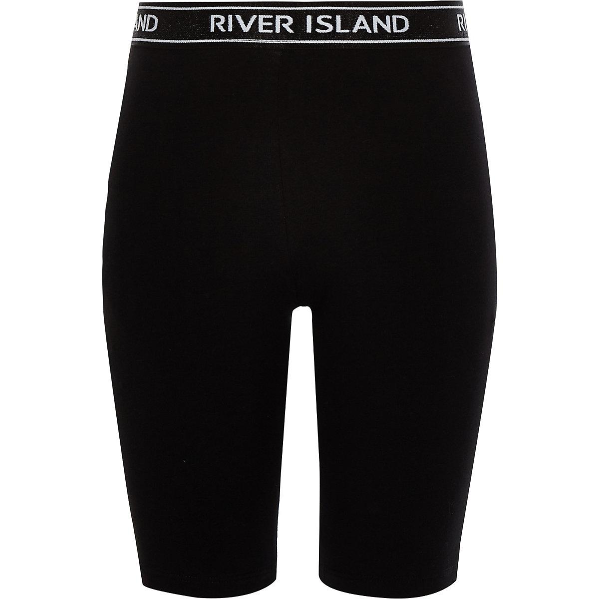 Girls black RI cycling shorts