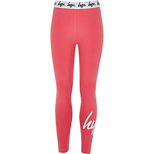Girls pink Hype leggings