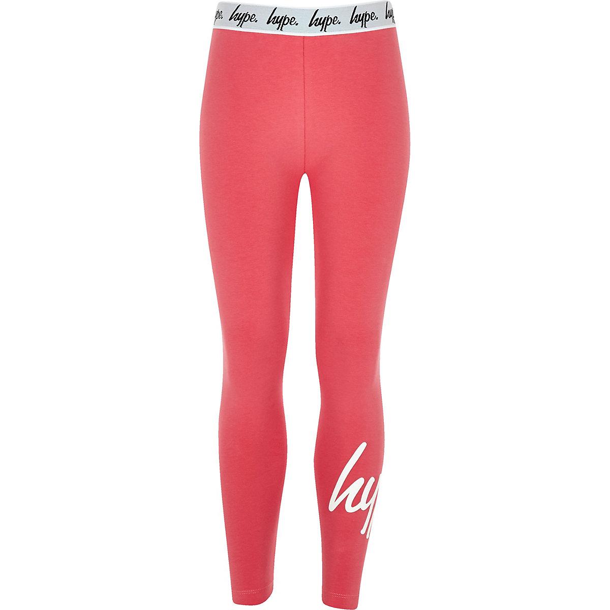 Girls pink Hype leggings