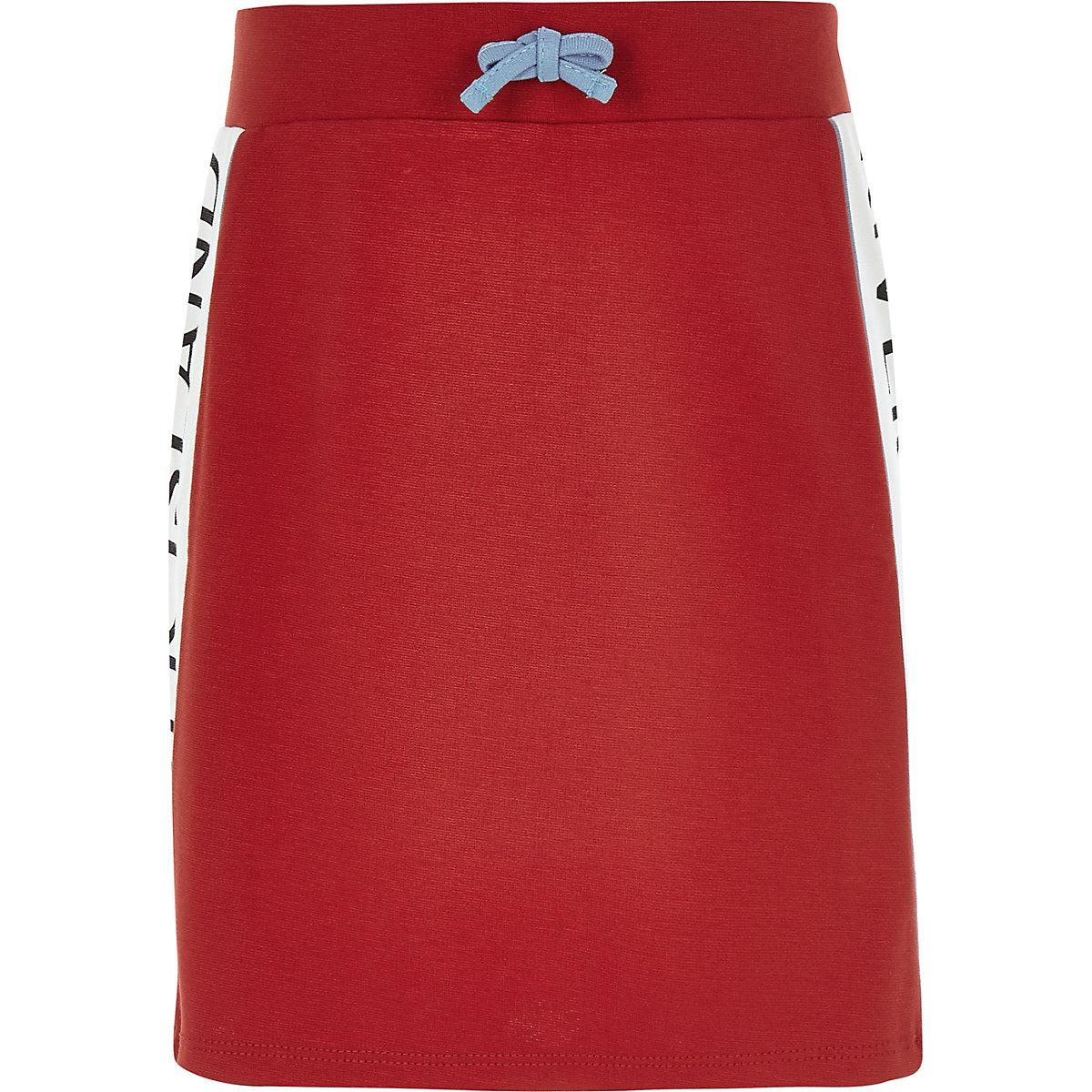 Girls red RI tape skirt