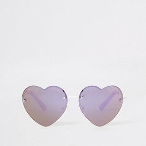 Girls pink heart sunglasses