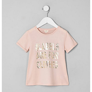 Mini kids pink Ditch the Label T-shirt