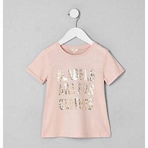 Ditch the Label – T-shirt rose mini enfant