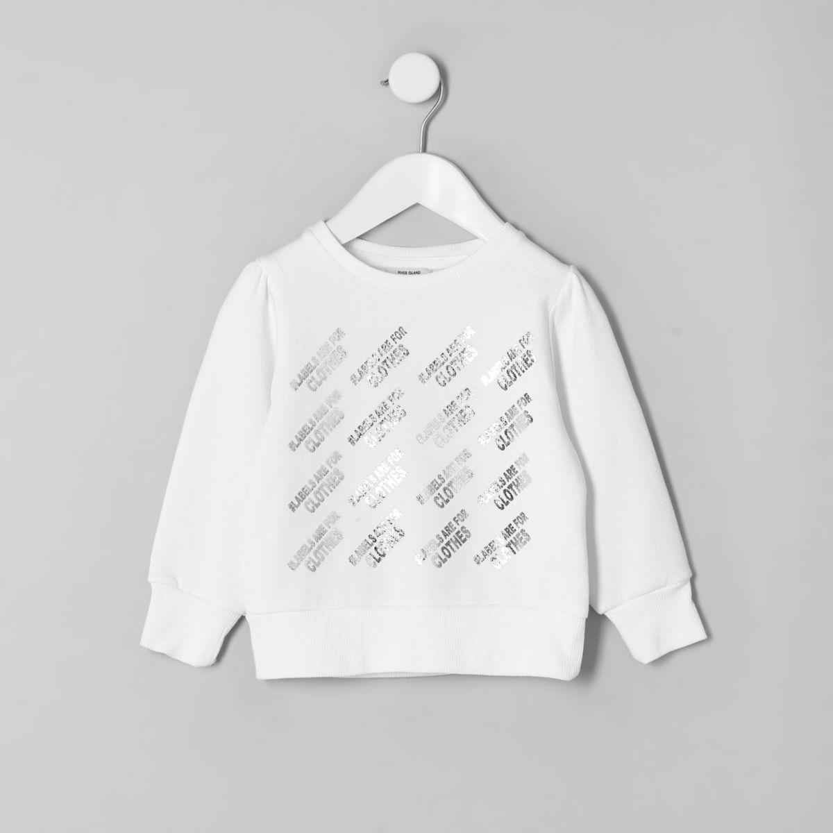 Mini kids Ditch the Label charity sweatshirt