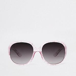 Sonnenbrille in Pink mit Glitzer