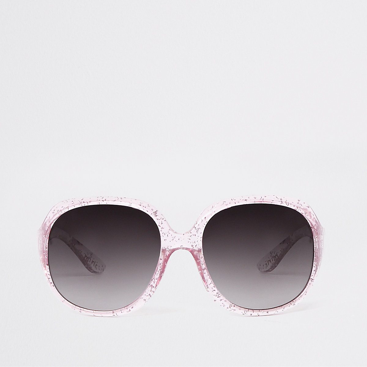 Mini girls pink glitter glam sunglasses