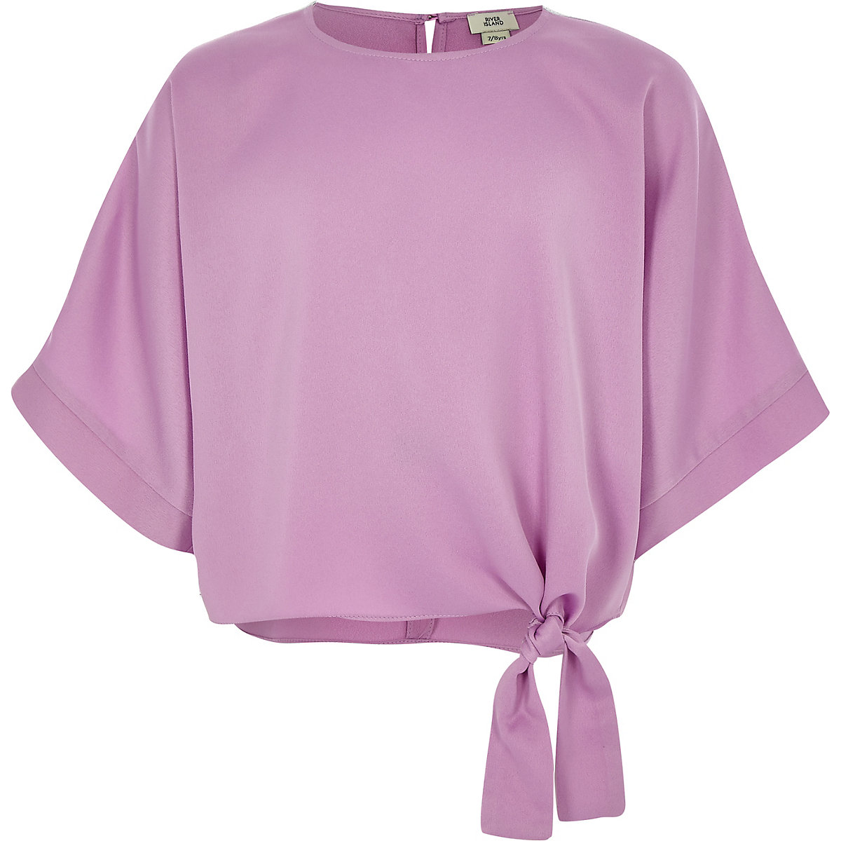 Girls pink tie side T-shirt