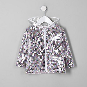 Imperméable à sequins multicolores mini fille