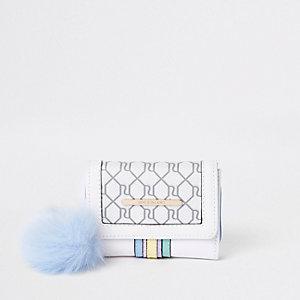 Crème uitvouwbare portemonnee met RI-logo en verschillende kleuren voor meisjes