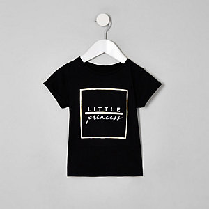 "Schwarzes T-Shirt ""little princess"""
