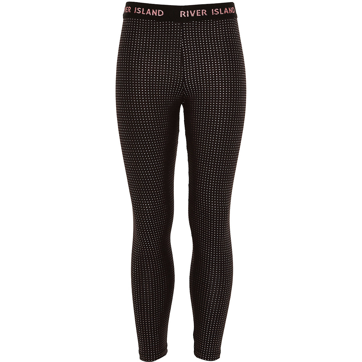Girls RI Active black studded leggings