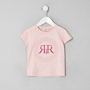 Mini – RI – T-Shirt in Pink mit Prägung