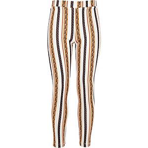 Legging imprimé chaîne blanc pour fille