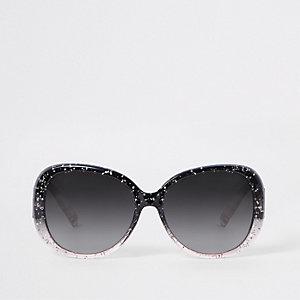 Pinke, glitzernde Sonnenbrille