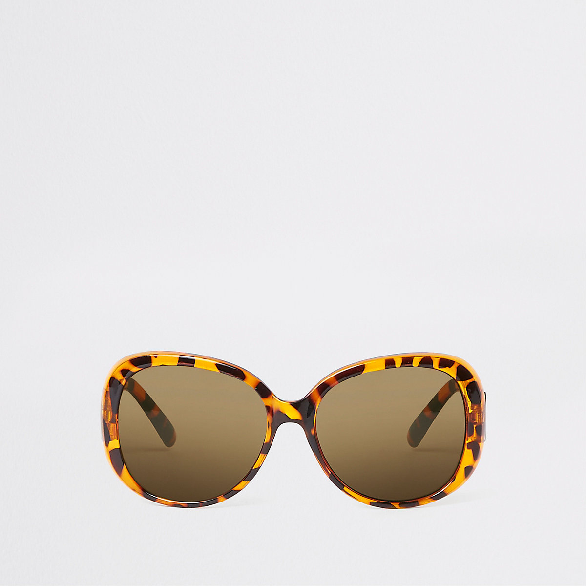 Brown tortoise shell glam sunglasses