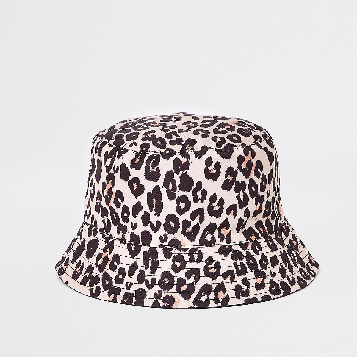 Mini girls leopard reversible bucket hat