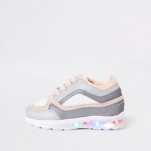 Mini - Grijze oplichtende sneakers voor meisjes
