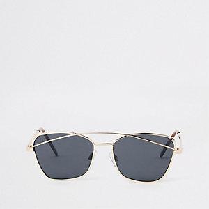 Girls gold tone smoke lens sunglasses