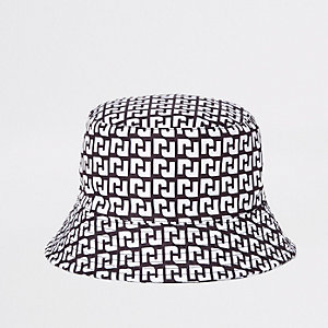 Mini girls black RI reversible bucket hat
