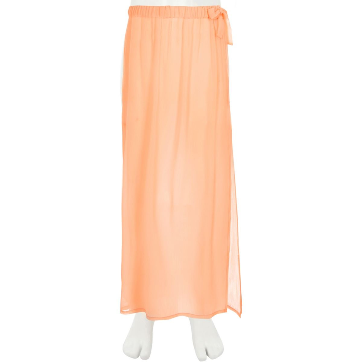Girls coral beach skirt