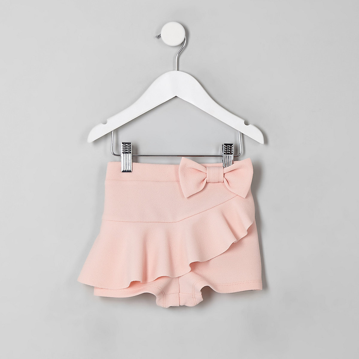 Mini girls pink frill bow skort