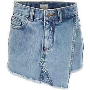 Blauwe denim rok voor meisjes