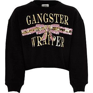 """Schwarzes Sweatshirt """"Gangster Wrapper"""""""