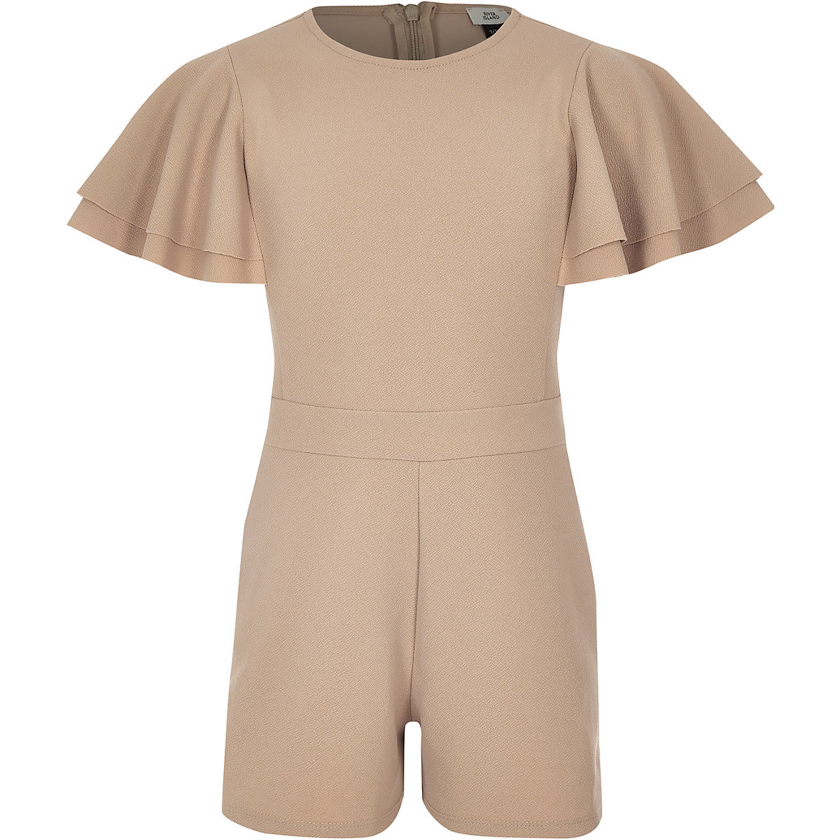 Girls camel tape side playsuit