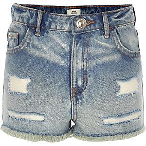 Annie – Blaue Shorts mit hohem Bund