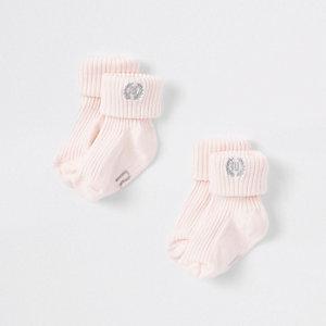 Multipack roze sokken met RI-logo voor baby's