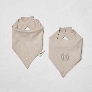 Multipack grijze slabbetjes met RI-logo voor baby's