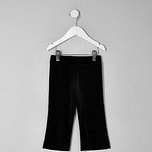 Mini girls black plisse pants