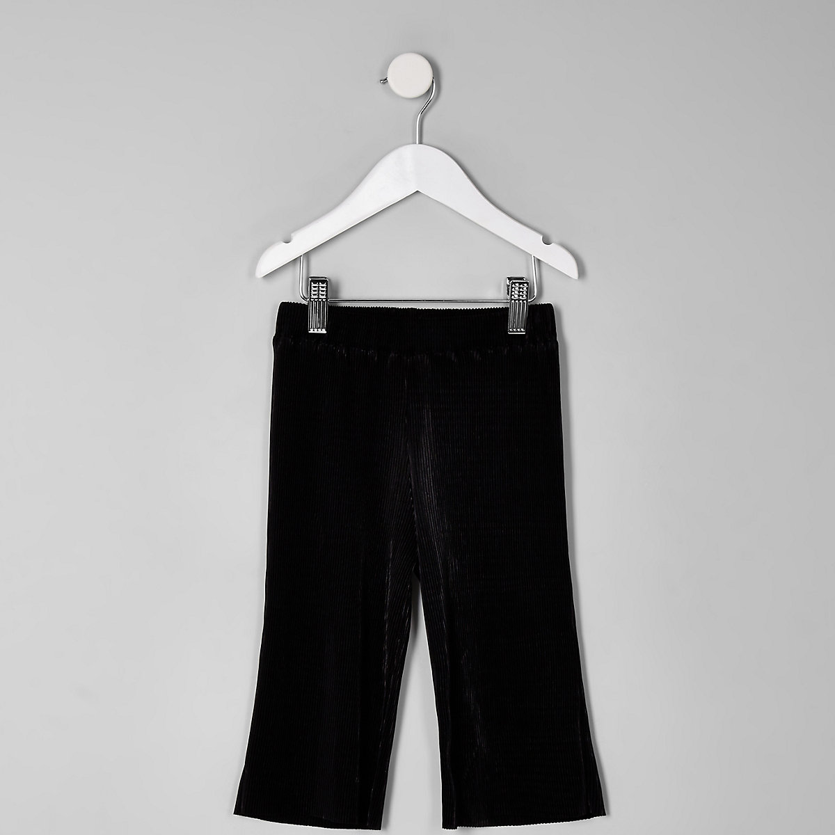 Mini girls black plisse pants