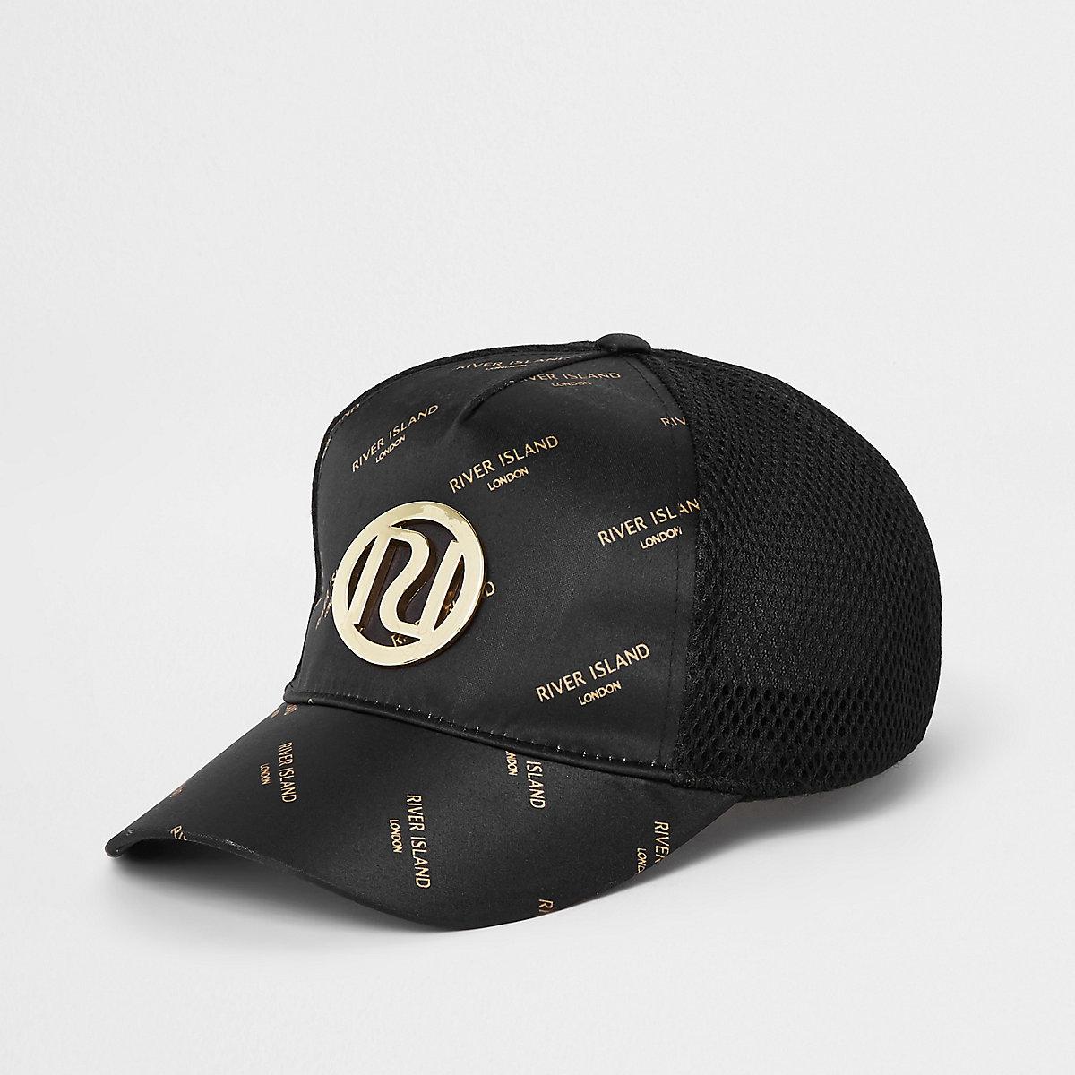 Girls black RI mesh cap
