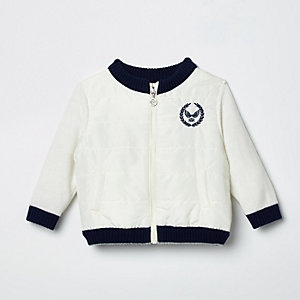 Baby cream RI hybrid bomber jacket
