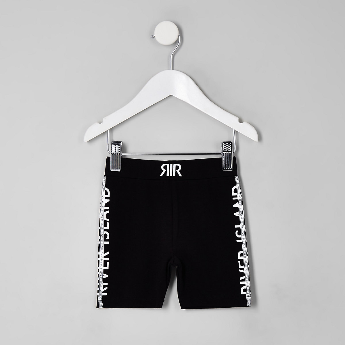 Mini girls black RI cycle shorts
