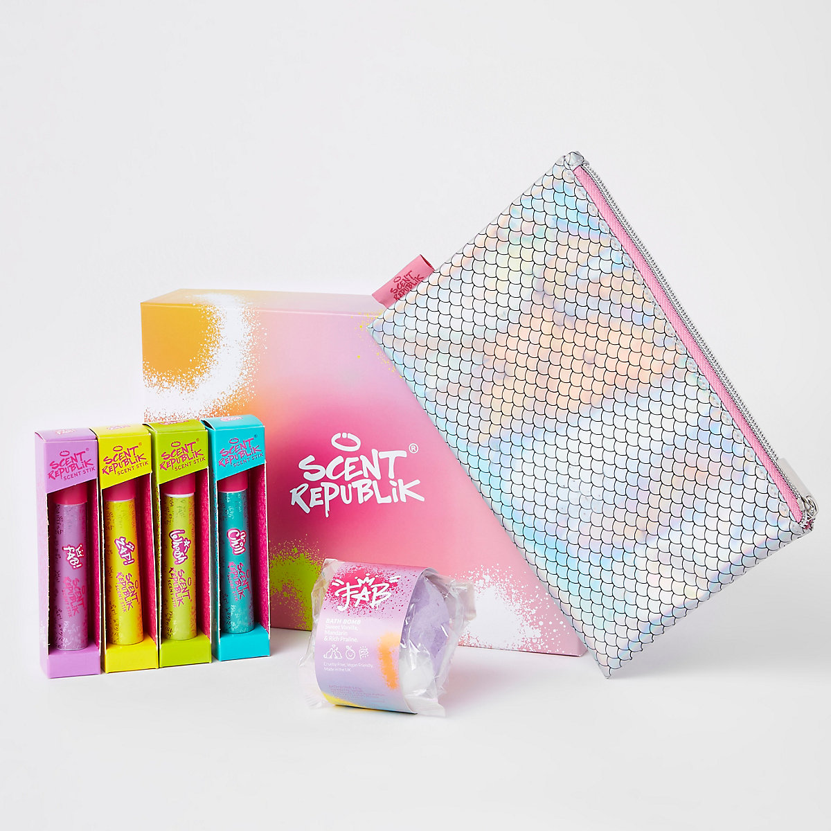 Girls pink scent republik large gift set