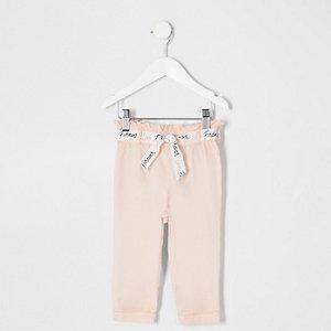 Mini girls pink paperbag pants