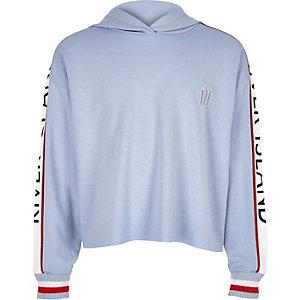 Blauwe RI-hoodie met lange mouwen voor meisjes