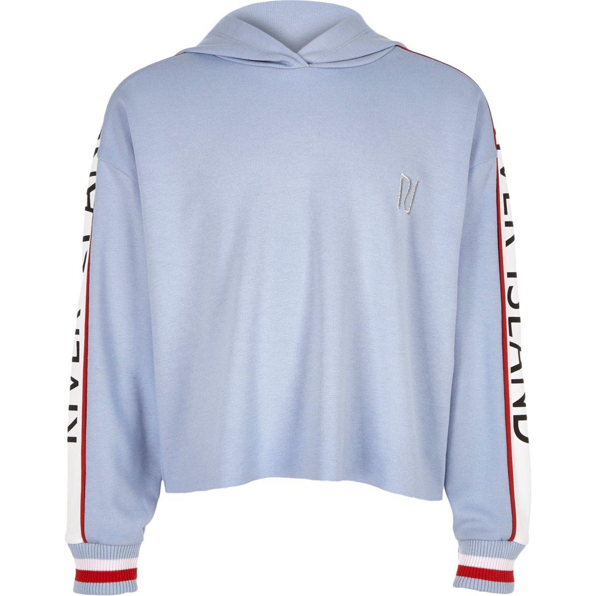 Girls blue RI long sleeve hoodie
