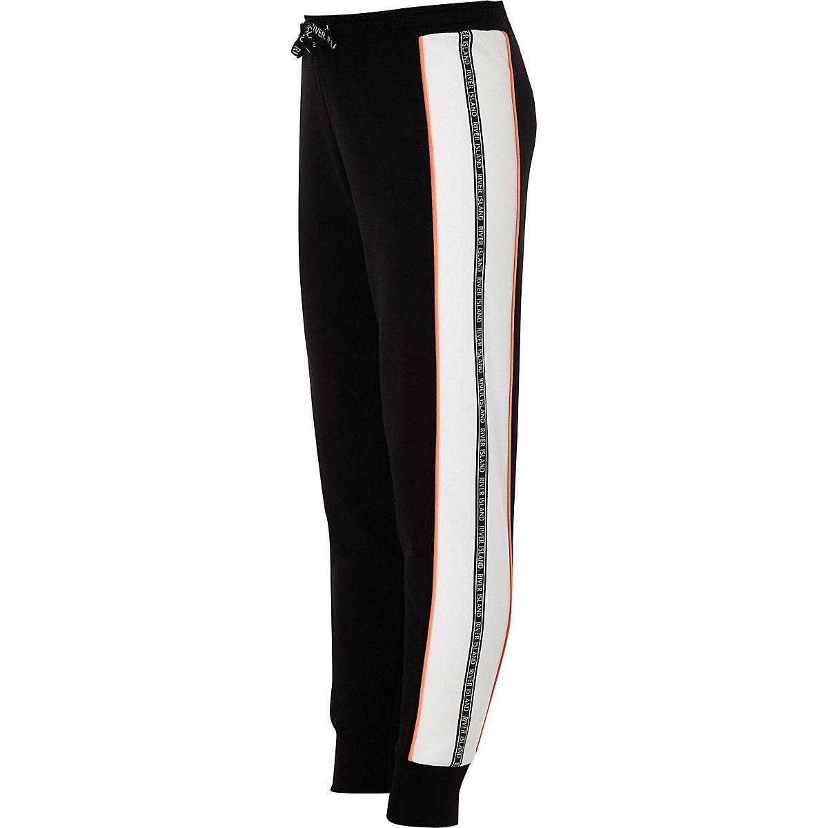 ... Pantalon de jogging noir avec bandes latérales à logo RI pour fille ... a9693ceef84