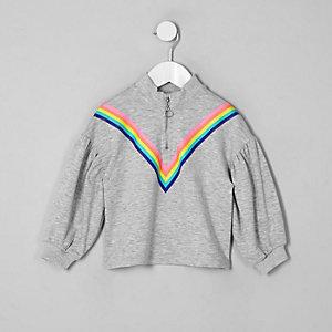 Graues Sweatshirt mit Reißverschluss