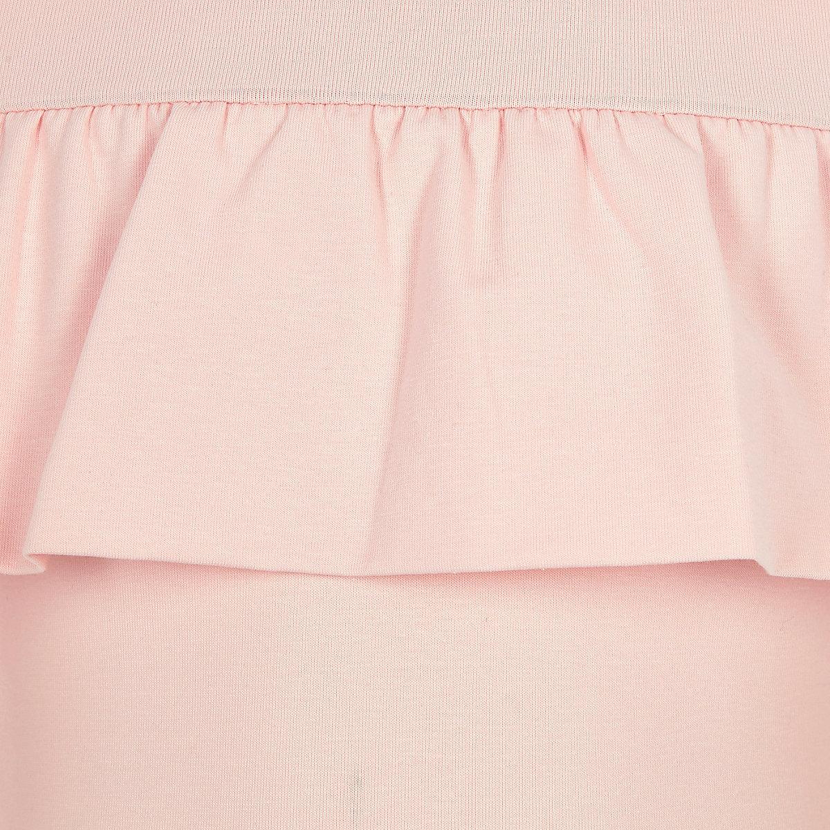 Girls pink frill bardot bodysuit - Bardot   Cold Shoulder - Tops - girls 0104d76e5
