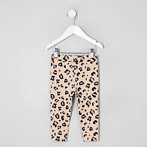 Mini girls leopard print leggings