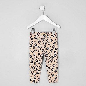 Mini girls leopard print leggings
