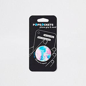 Girls pink swirl phone pop socket