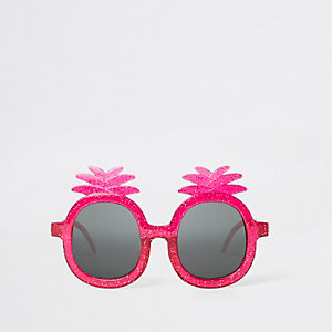 Mini girls pink pineapple sunglasses