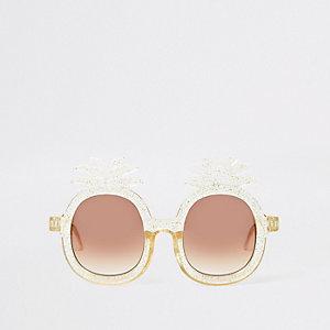 Mini - Gele zonnebril met ananas voor meisjes
